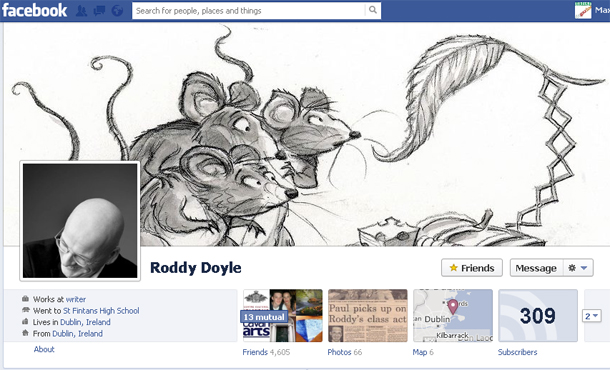 Roddy Doyle on Facebook