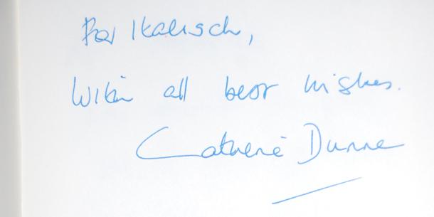 L'autografo di Catherine Dunne a Italish!