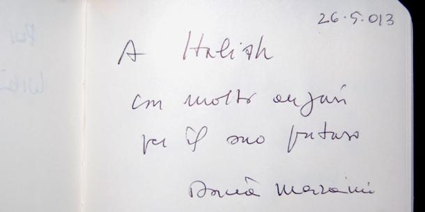 L'autografo di Dacia Maraini a Italish!
