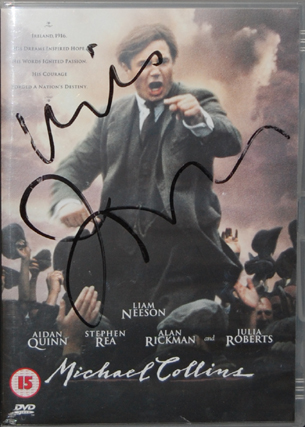 Michael Collins DVD, signed by Neil Jordan