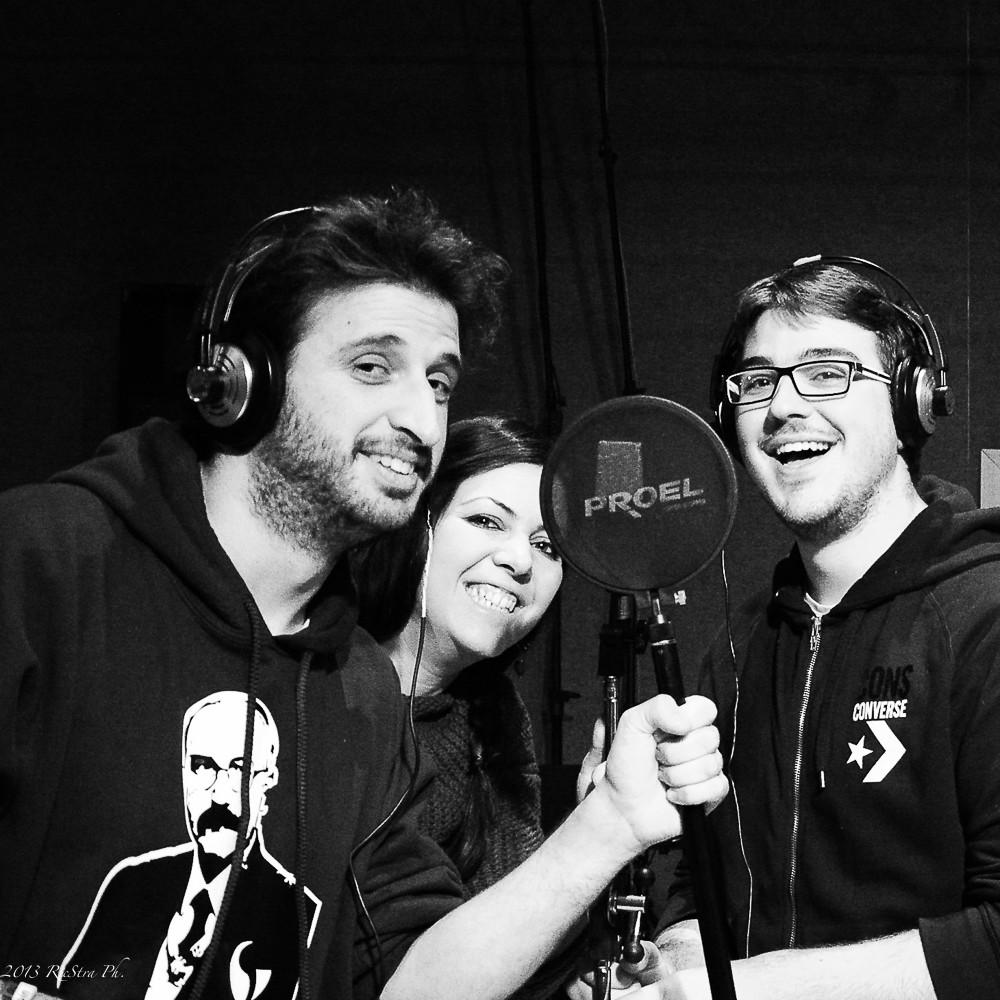 Dave & Rick feat. Cristina in sala di registrazione