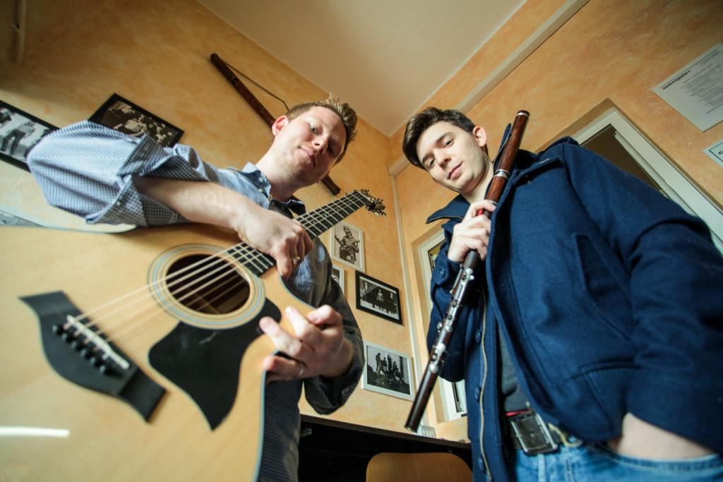 Chitarra e flauto Davide Bonacina e Tommaso Tornielli