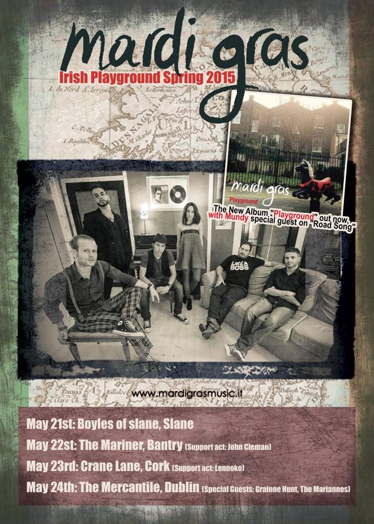 Mardi Gras Irish Playground Tour 2015