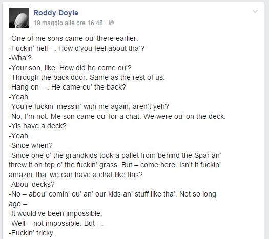 yes equality Roddy Doyle