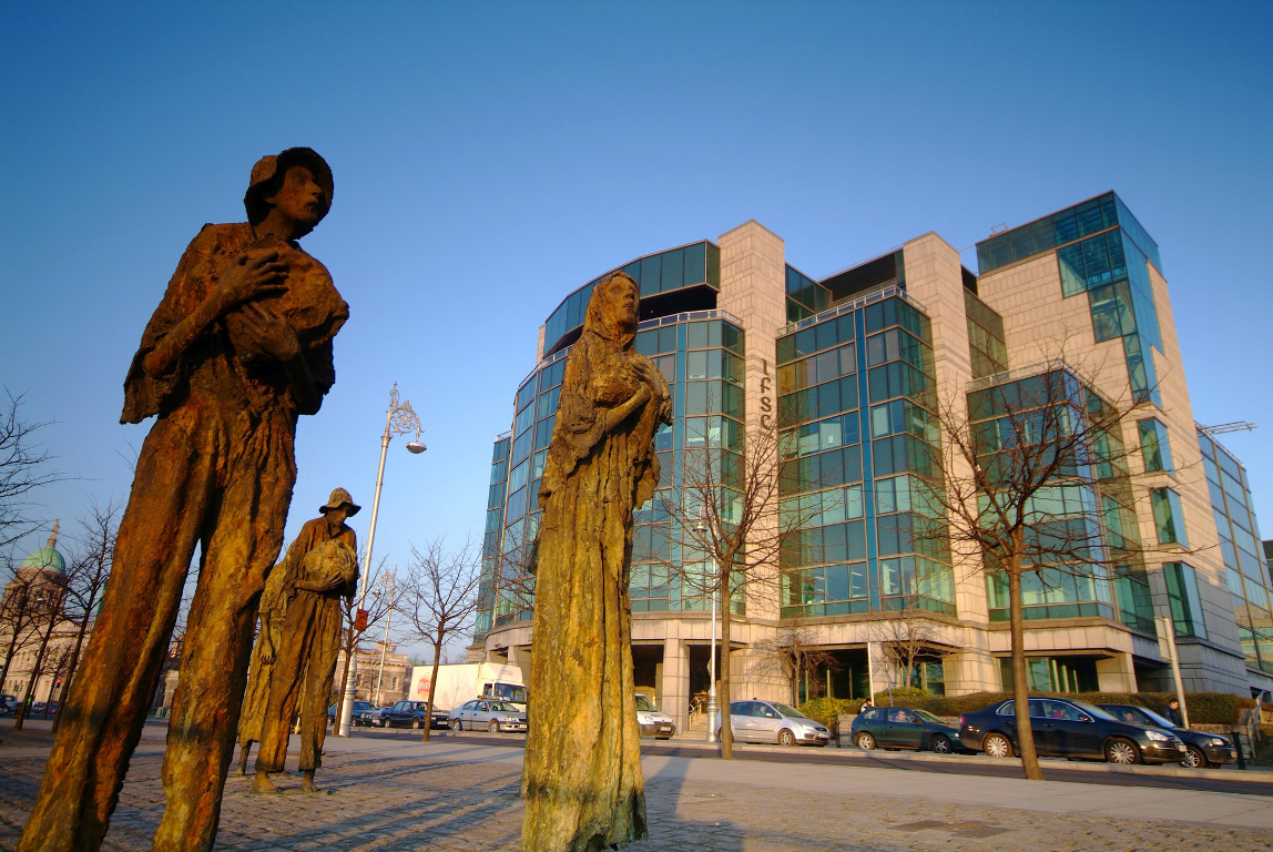 The Famine Memorial and the IFSC