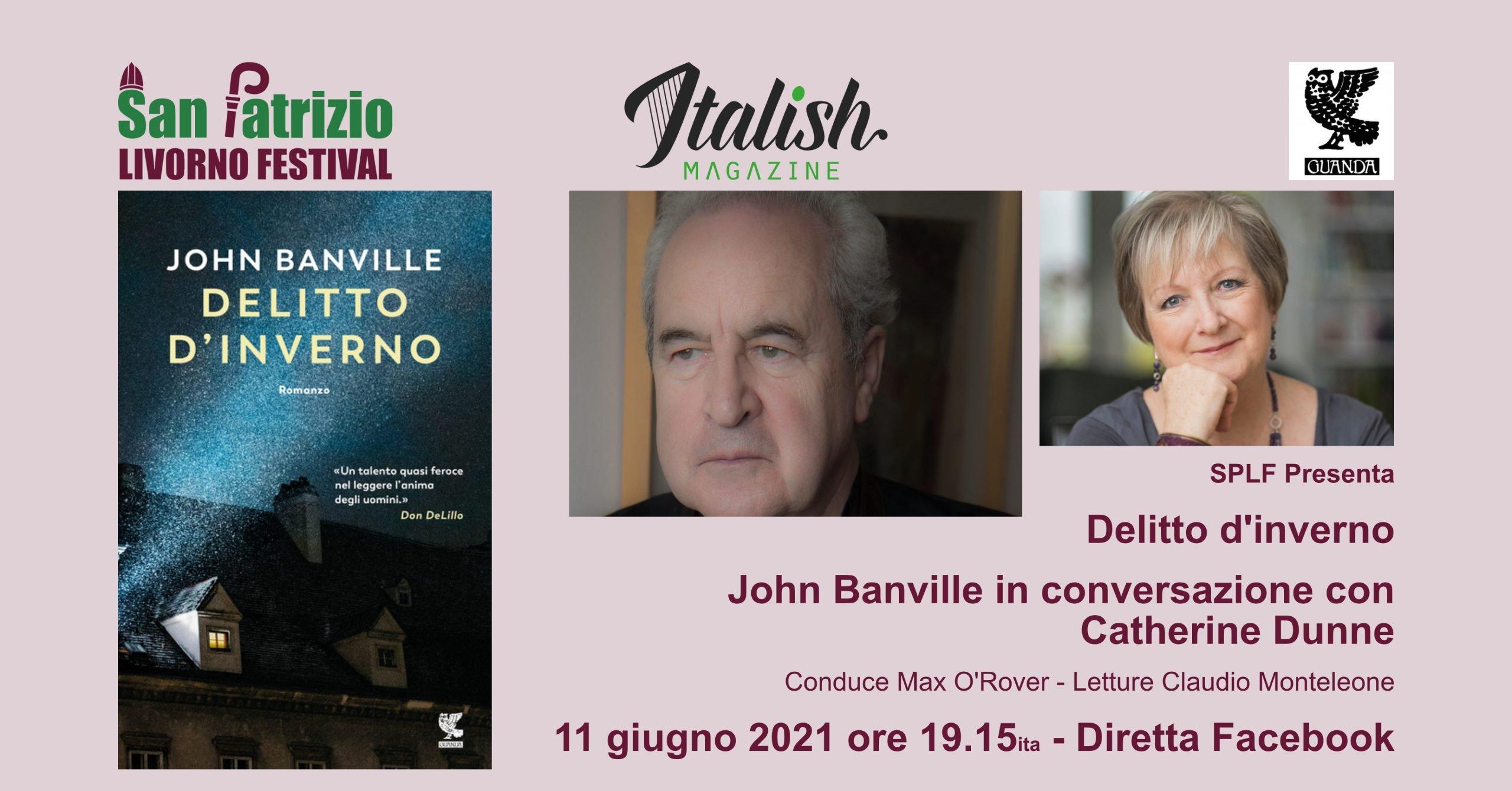 PLF Presenta: John Banville – Delitto d'inverno – Guanda – Con Catherine Dunne, Claudio Monteleone, Max O'Rover